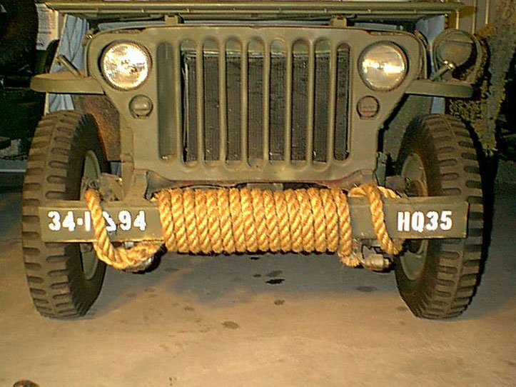 The MB GPW Front Bumper Rope