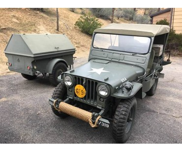 1952 Jeep Willy M38 & M100 Trailer