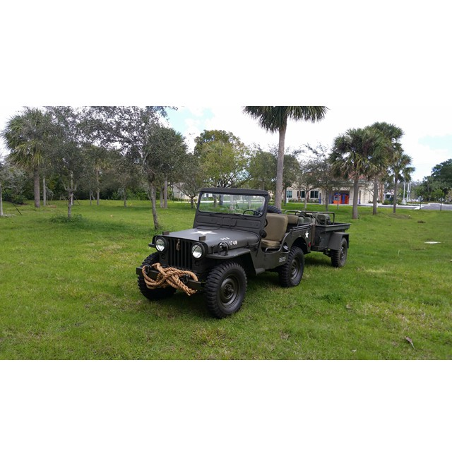 1951 Willys M38 with M416 Trailer and MEP 018A Genset