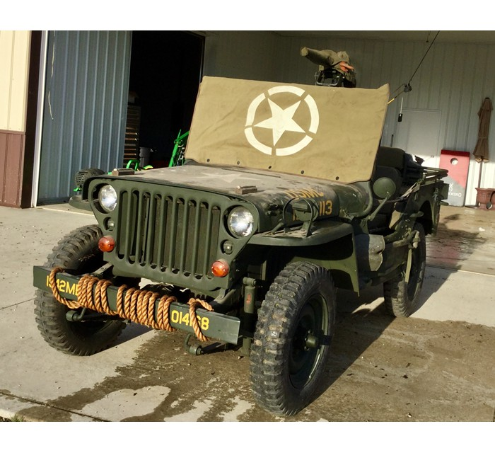 Willys Jeep registered as a Willys 1941 but is one of the French M201 Willys Hotchkiss Jeeps