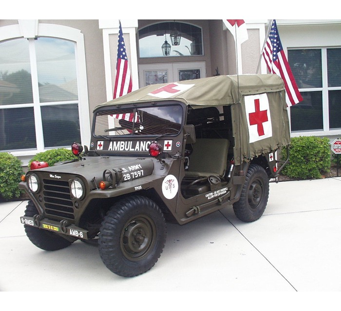 Rare M718 1061 Army Ambulance Jeep