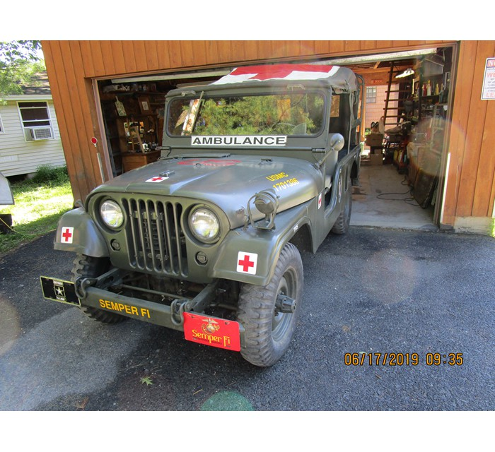 Restored 1954 Willys USMC M170 Ambulance