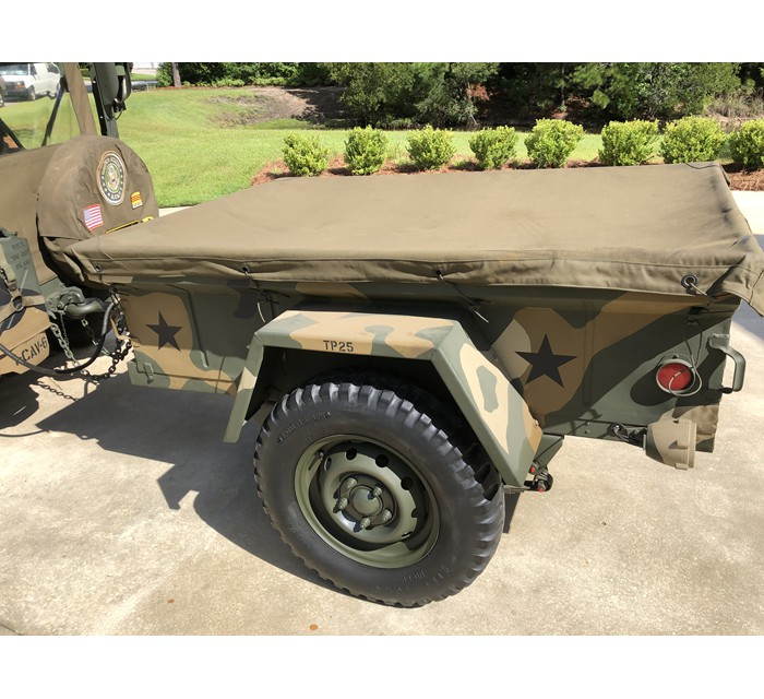 1967 Army 151 A-1 not cut Jeep with 416 Trailer