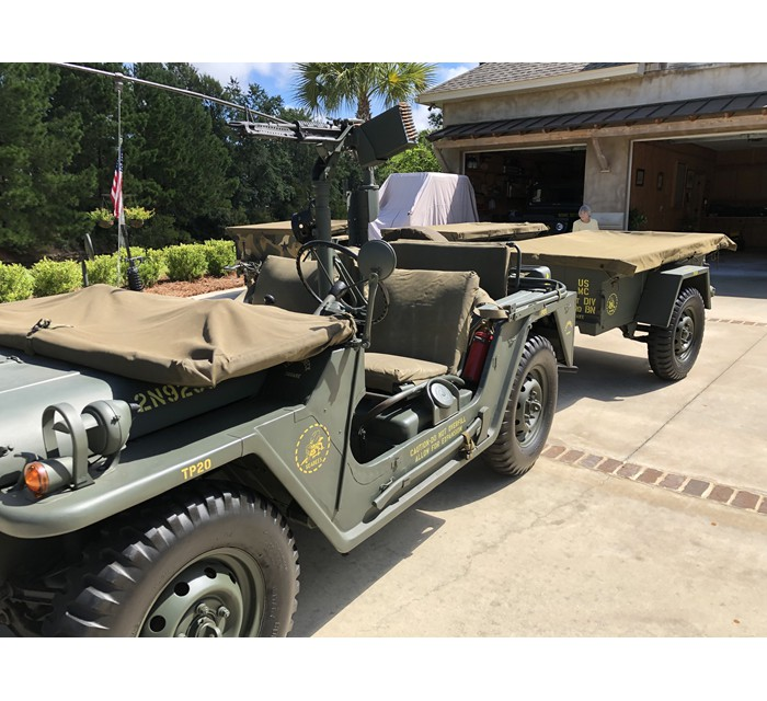 1967 USMC 151 A-1 NOT CUT Jeep with 416 Trailer