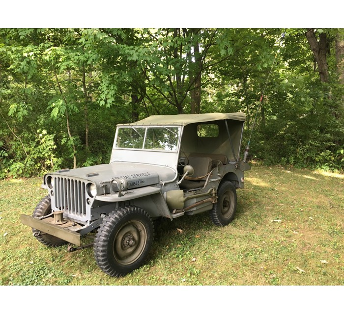 1944 WW II Navy Jeep Model GPW, Fully Restored, 12,000 Original Miles