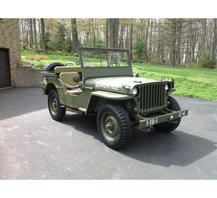 Original U.S. WWII 1943 Ford GPW Jeep with all Matching Serial Numbers-Fully Restored
