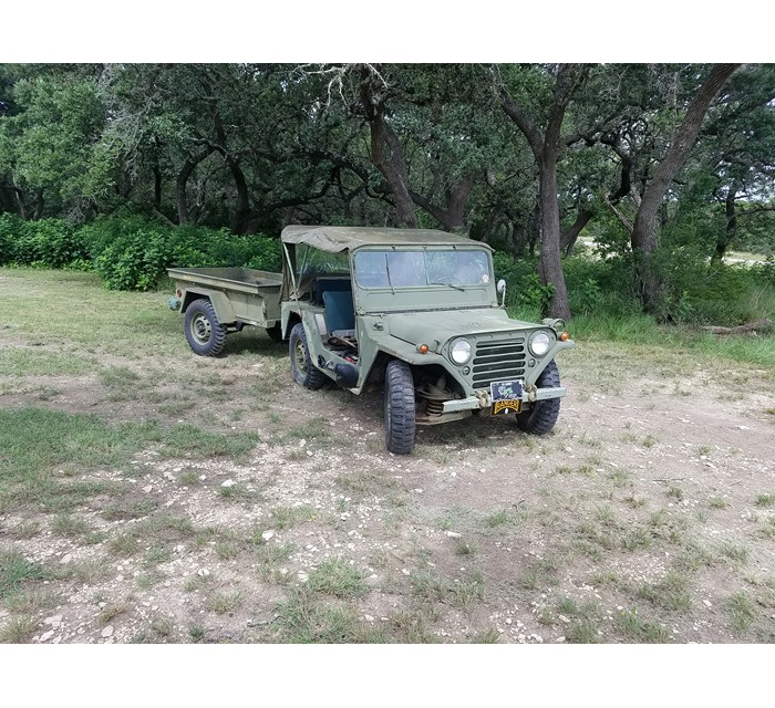 1967 M151A1 with Trailer