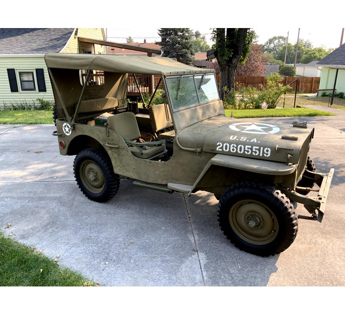 1944 Willy's MB Jeep 1/4 Ton Selling at Auction 10-13-2021